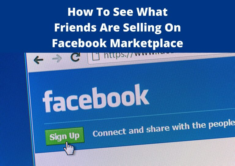 how to see friends listings on facebook marketplace